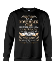As A November Girl Crewneck Sweatshirt front