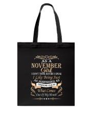 As A November Girl Tote Bag thumbnail