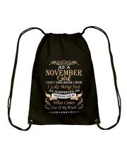 As A November Girl Drawstring Bag thumbnail