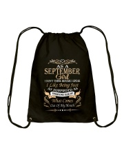 As A September Girl Drawstring Bag thumbnail
