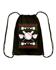 Baseball Ugly Christmas Sweater Drawstring Bag thumbnail