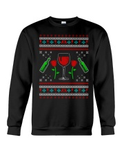 Wine Ugly Christmas Sweater Crewneck Sweatshirt front