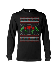 Wine Ugly Christmas Sweater Long Sleeve Tee thumbnail