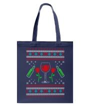 Wine Ugly Christmas Sweater Tote Bag thumbnail