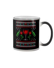 Wine Ugly Christmas Sweater Color Changing Mug thumbnail