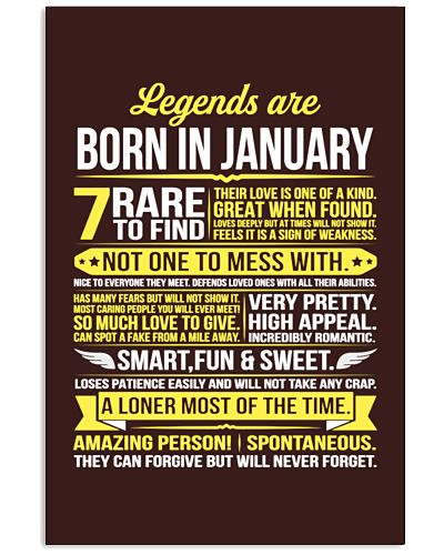 Legends Are Born In January Funny Shirt