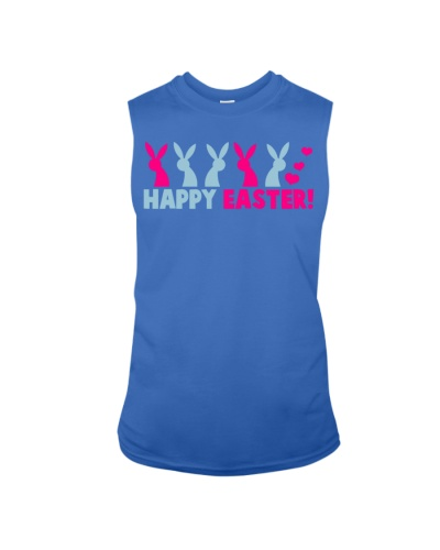 Happy Easter With A Line Of Rabbits Shirt