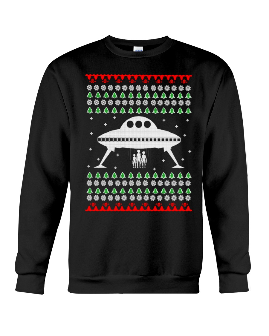 UFO Ugly Christmas Sweater Gift Crewneck Sweatshirt