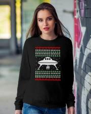UFO Ugly Christmas Sweater Gift Crewneck Sweatshirt lifestyle-unisex-sweatshirt-front-9
