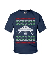 UFO Ugly Christmas Sweater Gift Youth T-Shirt thumbnail