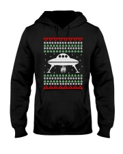 UFO Ugly Christmas Sweater Gift Hooded Sweatshirt thumbnail