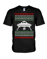 UFO Ugly Christmas Sweater Gift V-Neck T-Shirt thumbnail