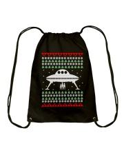 UFO Ugly Christmas Sweater Gift Drawstring Bag thumbnail