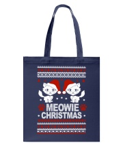 Meowie Ugly Christmas Sweater Cat Lovers Gift Tote Bag thumbnail