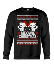 Meowie Ugly Christmas Sweater Cat Lovers Gift Crewneck Sweatshirt front