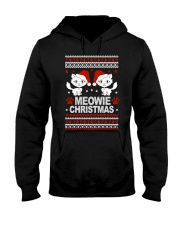 Meowie Ugly Christmas Sweater Cat Lovers Gift Hooded Sweatshirt thumbnail