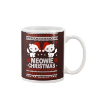 Meowie Ugly Christmas Sweater Cat Lovers Gift Mug thumbnail