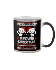 Meowie Ugly Christmas Sweater Cat Lovers Gift Color Changing Mug thumbnail