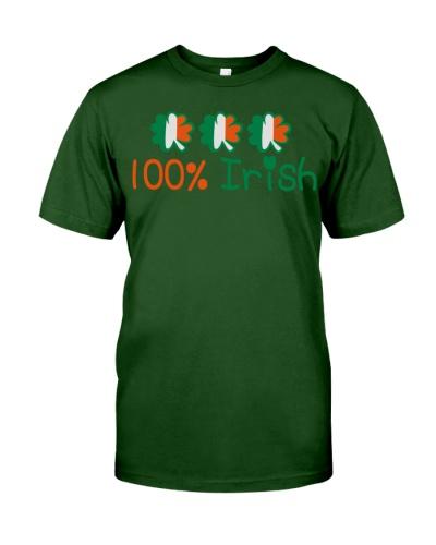 I'm 100 Irish-Power St Patricks day Tee