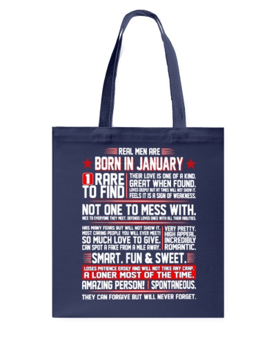 Real Men Are Born In January Birth Month Tshirt