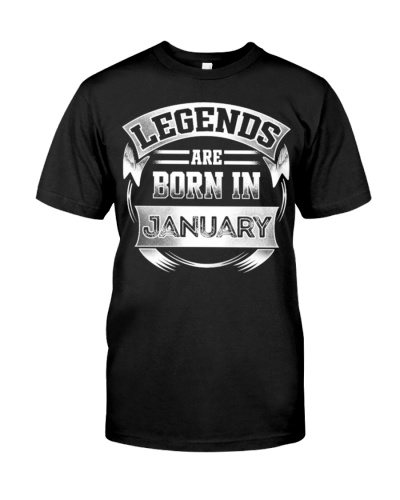 Legends Born January Tee Shirt Gifts
