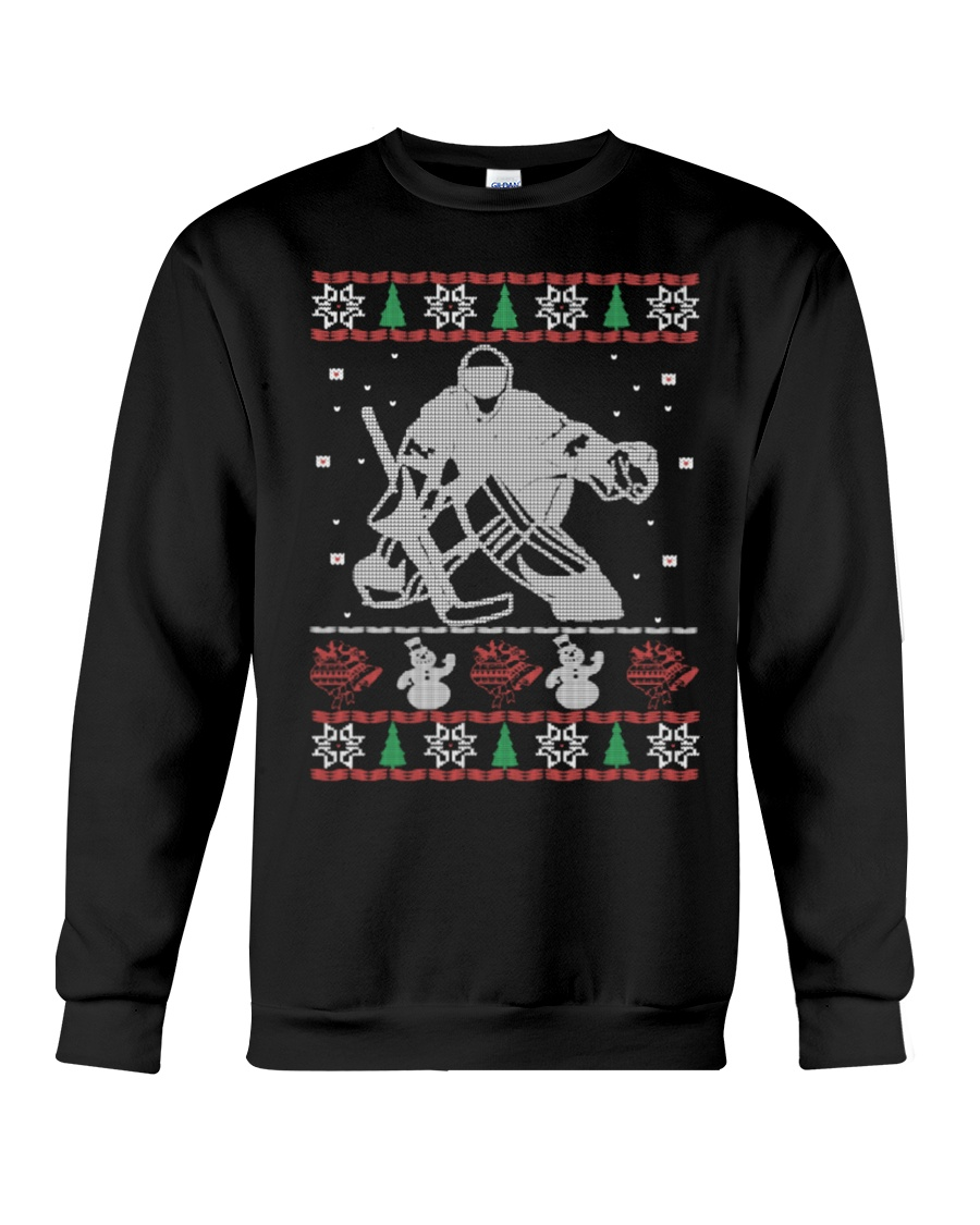 Hockey Goalie Ugly Christmas Sweater Crewneck Sweatshirt