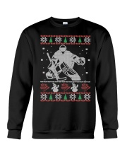 Hockey Goalie Ugly Christmas Sweater Crewneck Sweatshirt front