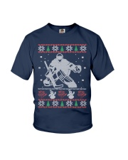 Hockey Goalie Ugly Christmas Sweater Youth T-Shirt thumbnail