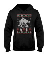 Hockey Goalie Ugly Christmas Sweater Hooded Sweatshirt thumbnail
