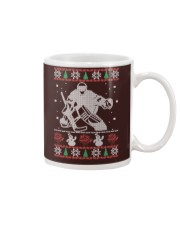 Hockey Goalie Ugly Christmas Sweater Mug thumbnail