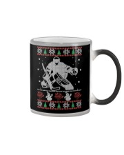 Hockey Goalie Ugly Christmas Sweater Color Changing Mug thumbnail