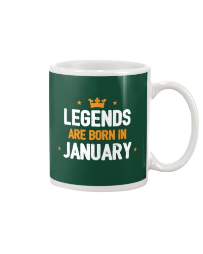 Legends Are Born in January Tee Shirt