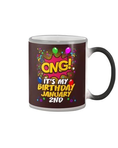 Its My Birthday January Second
