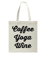 Coffee Yoga Wine Tote Bag tile