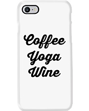 Coffee Yoga Wine Phone Case tile