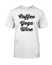 Coffee Yoga Wine Classic T-Shirt tile