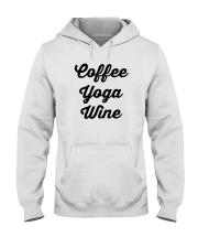 Coffee Yoga Wine Hooded Sweatshirt tile