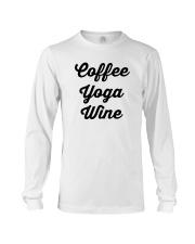 Coffee Yoga Wine Long Sleeve Tee tile