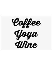 Coffee Yoga Wine Horizontal Poster tile