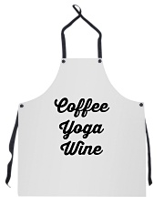 Coffee Yoga Wine Apron tile