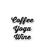 Coffee Yoga Wine Sticker tile