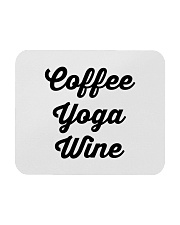 Coffee Yoga Wine Mousepad tile