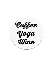 Coffee Yoga Wine Circle Magnet tile