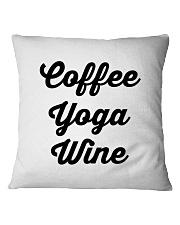 Coffee Yoga Wine Square Pillowcase tile