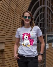 PURPULE UNICORN CUTE SHIRT 2018 Ladies T-Shirt lifestyle-women-crewneck-front-2