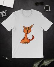 Le chat orange Classic T-Shirt lifestyle-mens-crewneck-front-16