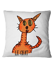 Le chat orange Square Pillowcase thumbnail