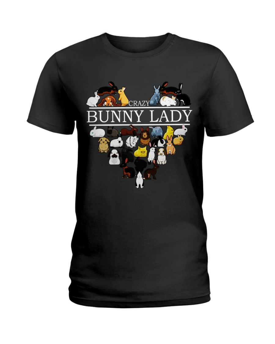 Crazy Bunny Lady Ladies T-Shirt