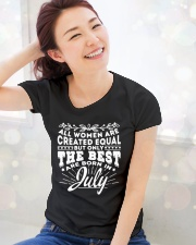 All Women Are Created Equal but Best Born July Ladies T-Shirt lifestyle-holiday-womenscrewneck-front-1