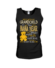 Mess with my grandchild and you make Nana bear Unisex Tank tile
